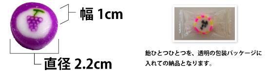 サイズ金太郎飴サイズオリジナルキャンディー