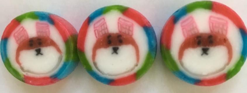 金太郎飴の実績になります。組み飴、オリジナルキャンディー文化祭飴